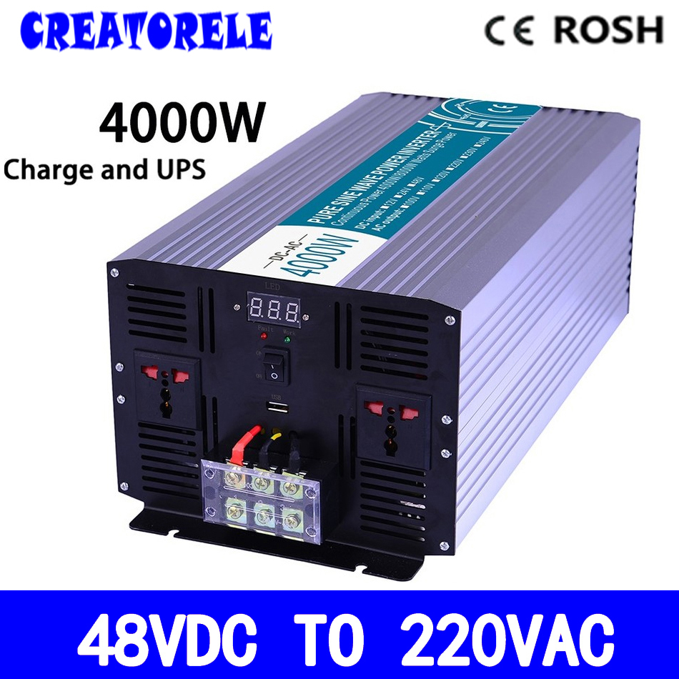 P4000-482-C 4000w  power inverter 48v to 220v Pure Sine Wave solar inverter voltage converter with charger and p2000 482 c inverter 48vdc to 220vac 2000w solar inverter pure sine wave voltage converter with charger and