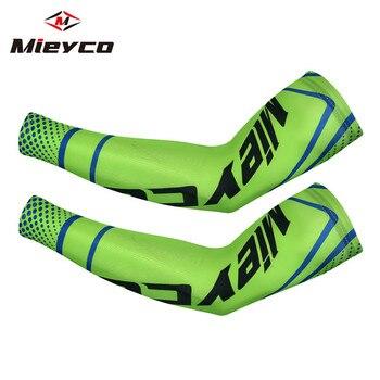 Mieyco manga para proteção solar, mangas esportivas para corrida e ciclismo, mangas aquecimento de braço e tecido respirável para braços do bicicleta 1