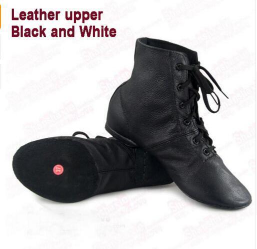 Ny Kjole Læder Jazz Dansesko Lace Up Støvler Til Voksne Kvinder Practice Yoga Sko Bløde og Lette Vægt Jazz Støvler