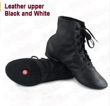 Новые женские кожаные джаз Обувь для танцев Кружева до Сапоги и ботинки для взрослых девушку практика обувь для йоги мягкий и легкий Вес Джаз Сапоги и ботинки