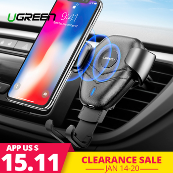 Ugreen Qi Car Wireless Charger for iPhone Xs XR X 8 10W Fast Wireless Charging for Samsung Galaxy S9 S8 Car Phone Holder Charger