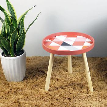Kreatywny Nordic salon stolik dziecięcy mały stolik kawowy stolik kawowy Mini łóżko boczne proste sypialnia nocna tanie i dobre opinie Stół ROUND Krajem ameryki WOOD Geometric Na bazie drewna panele Made In China Sosna 39 5x40cm 15 5x15 7 Montaż Nordic Living Room Children s Table Small Coffee Table