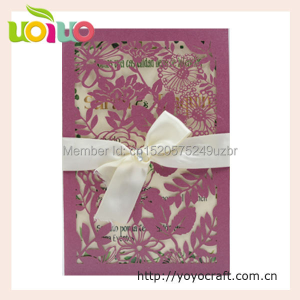 discount elegant flower pocket wedding invitation card wedding decoration lace fancy birthday cards printing available - Invitation Card Printing