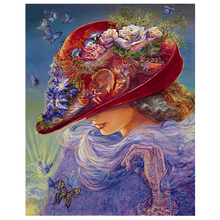 Hat beauty diamond Embroidery diy painting mosaic diamant 3d cross stitch pictures H695