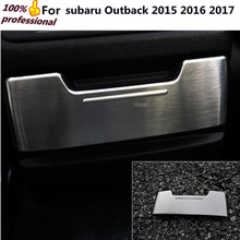 car styling cover detector trims ABS chrome Rear seat ashtray trim panel moulding frame 1pcs for subaru Outback 2015 2016 2017