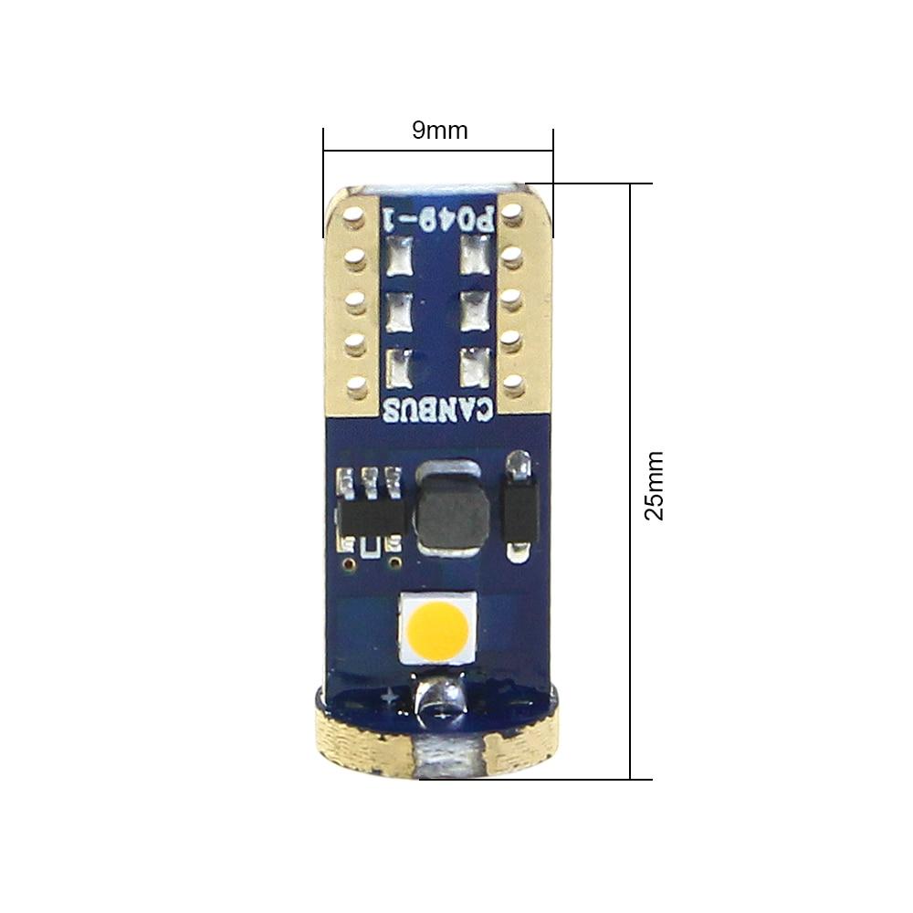 KEIN 2 개 T10 LED 전구 w5w 194 Canbus 3030 순수한 흰색 - 자동차 조명 - 사진 2