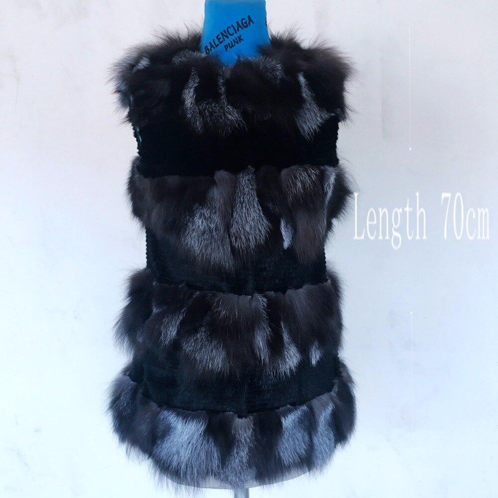 Nouveau 2018 Utwear 100 Gilet Réel Renard Nature 0 D'hiver Chefs De Véritable Manches Fourrure Silver Fox Sans Style Femmes 01 Avec rrqwFdTxA