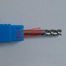 1 pc 10mm D10 * 45 * D10 * 100 HRC50 3 fraises à cannelures pour outils de CNC en aluminium fraises à bout plat en carbure monobloc fraises à CNC