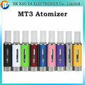 E Cigarette MT3 atomizador EVOD BCC MT3 EVOD atomizador Clearomizer 2.4 ml MT3 evaporador para E Kits de cigarrillos E cig MT3 Clearomizer