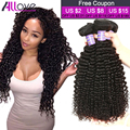 7A Mink Peruvian Curly Virgin Hair 4Bundles Peruvian Virgin Hair Kinky Curly Hair Beauty Kinky Curly No Tangle Human Hair Weaves