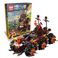 544PCS  Lepin 14018 Nexoe Knights General Magmars Schicksalsmobil Building Set  Bricks Blocks Compatible with 70321 Toys