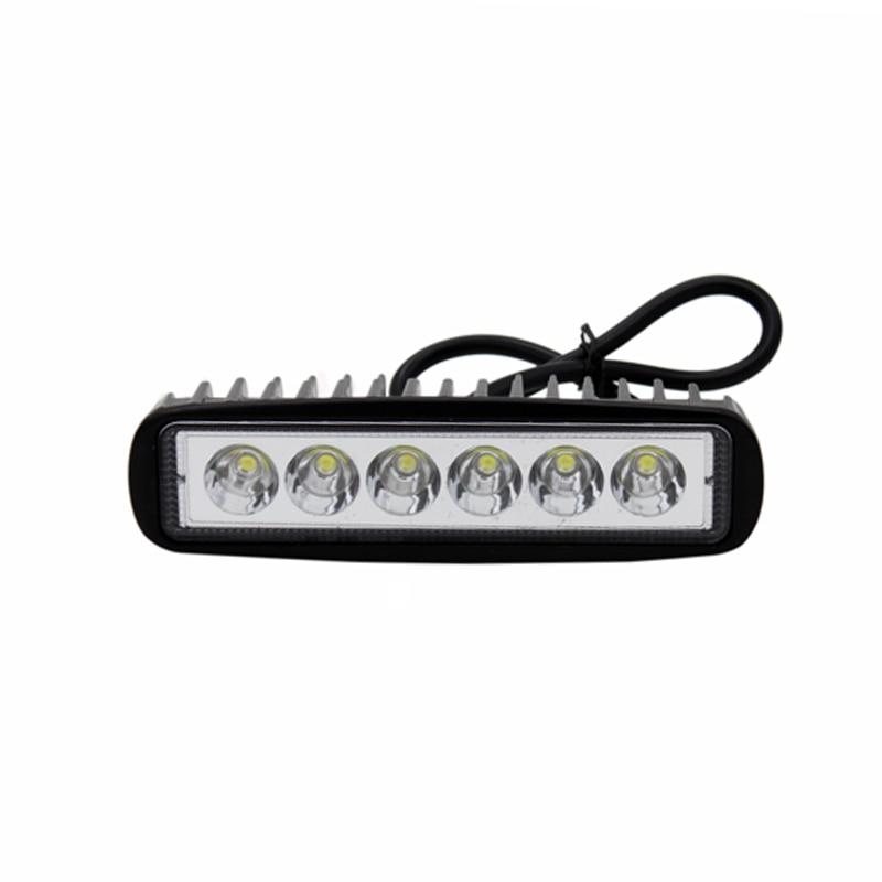 2 Pcs / Pair SUNKIA 6 inch 18 W LED Kerja Cahaya Bar 12 V Lampu - Lampu mobil - Foto 3