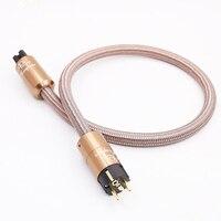 HI End Shuko Cable de alimentación CD amplificador amp EU Cable de enchufe de alimentación HIFI AC Cable de alimentación
