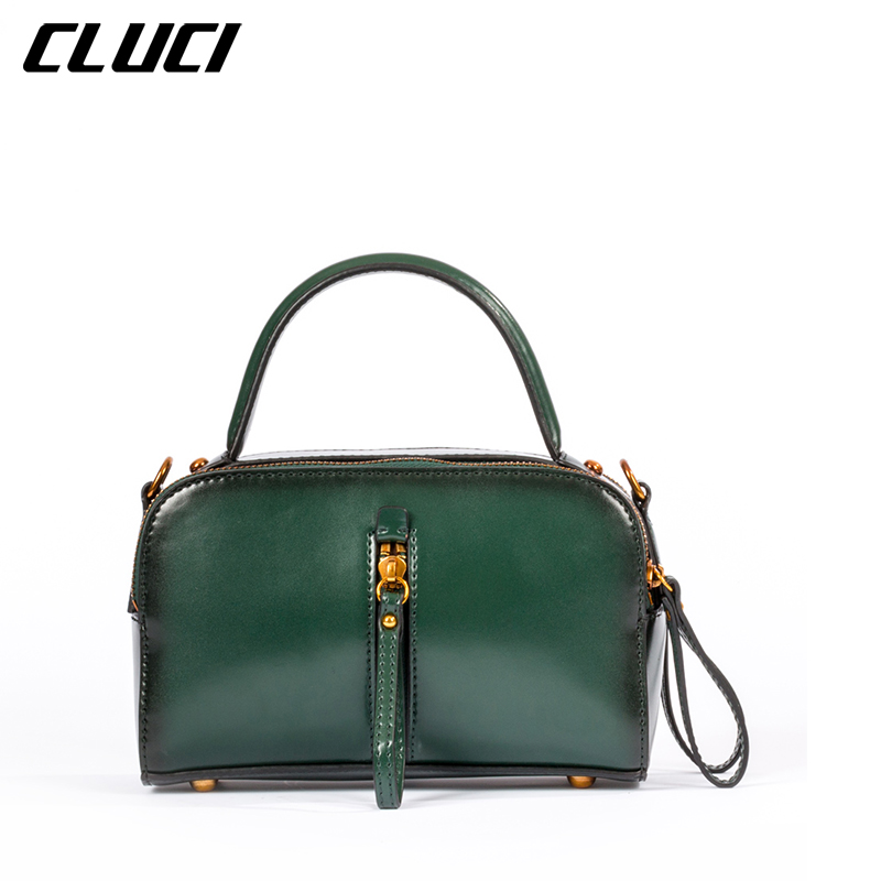 CLUCI Women's Shoulder/Leather Handbag Bags Fashion Luxury Famous Brand Green/Bl