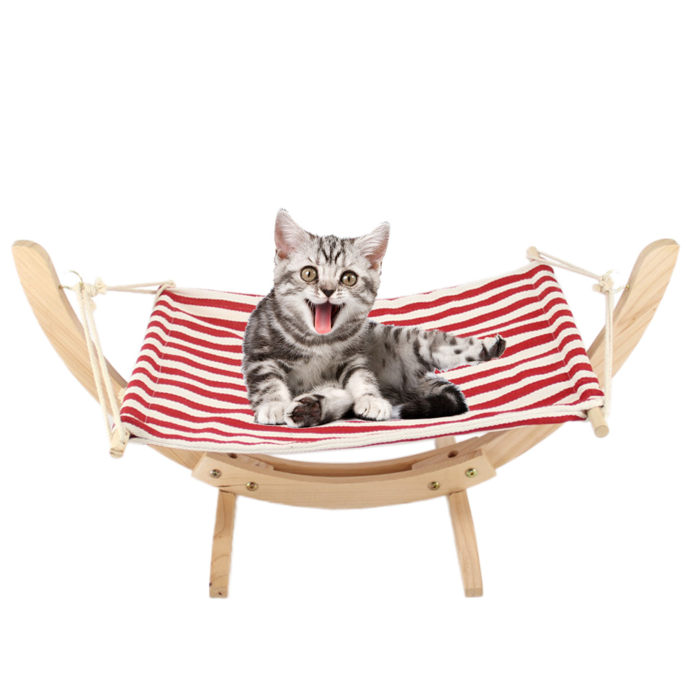 Us 38 25 40 Off Funny Diy Assembled Wood Cat Hammock Bed Soft Fleece Pet Blanket Mat Cushion Small Dog Kitten Hamster Lazy Hanging Swing Cat Toy In