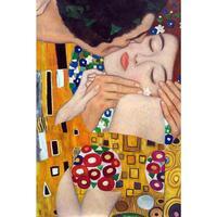 Большой ручной работы картина маслом на холсте копия Густава Климта поцелуй (крупным планом) стены искусства для украшения дома