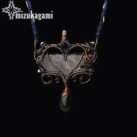 Only One Piece Pure Handmade Copper Wire Natural Labradorite Pietersite Natural Quartz Pendant Necklace For Women