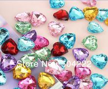 300 шт 3d акриловые стразы в форме сердца/драгоценные камни