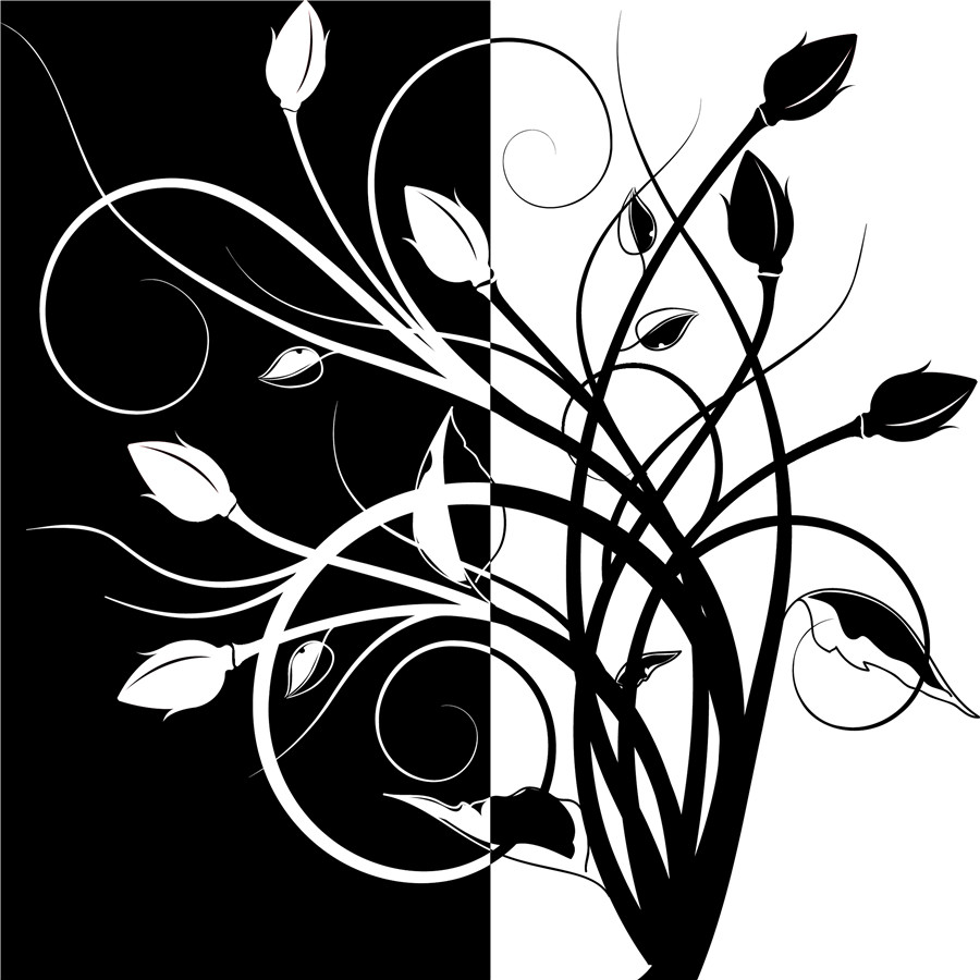 2 Panel Modern Abstract Flower Painting On Canvas Wall Art Simple Black And White Flowers Picture Home Decor For Living Room In Calligraphy From
