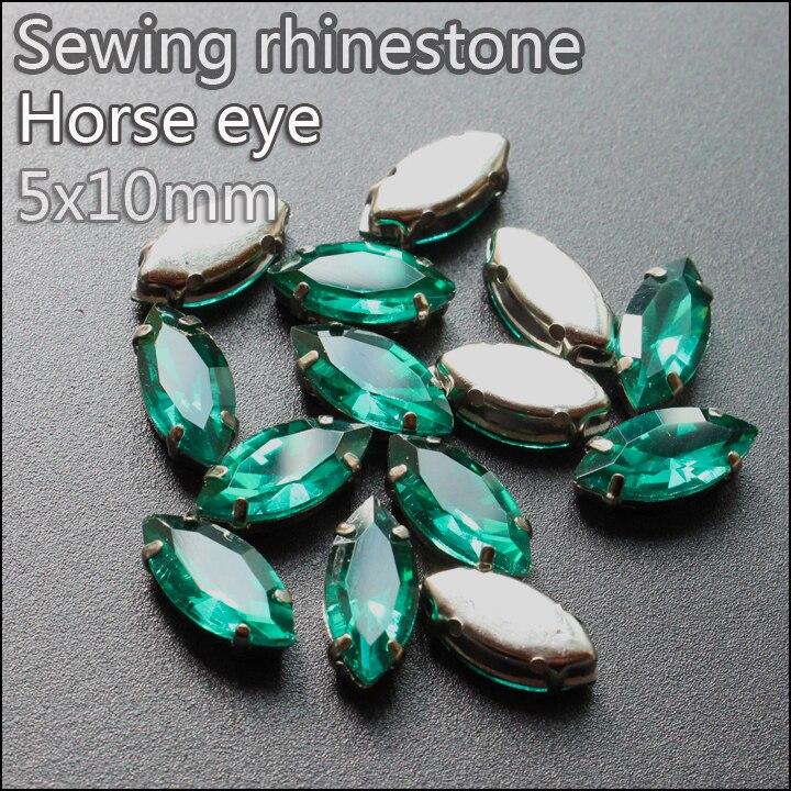 416e201096b8 30 unids lote cristal strass 5 10mm Esmeralda flatback base piedras  decoración vestido dsjkmyem