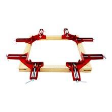 4 adet/grup 4 inç çok işlevli köşe kelepçe dik açı 90 derece sağ açı kelepçeleri ahşap klip resim çerçevesi