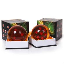 Цвет в штучной упаковке 1 Шт. 7 см Dragon Ball Z Звезда Хрустальный Шар ПВХ рисунок Игрушки Dragonball Z Игрушки 1 ~ 7 Звезда Выбор Коробку Большой Подарок