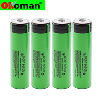 2019 Original 18650 3.7 v 3400 mah Lithium Rechargeable Battery NCR18650B with Pointed(No PCB) For flashlight battery