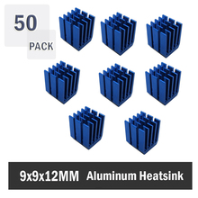 50PCS Heatsinks 9 x 12mm Cooler Heat Sink Aluminum Mini IC Chipset Cooling