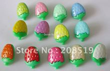 NB005 Fashion buttons 400pcs 15mm*12mm strawberry plastic buttons assorted colors mixed