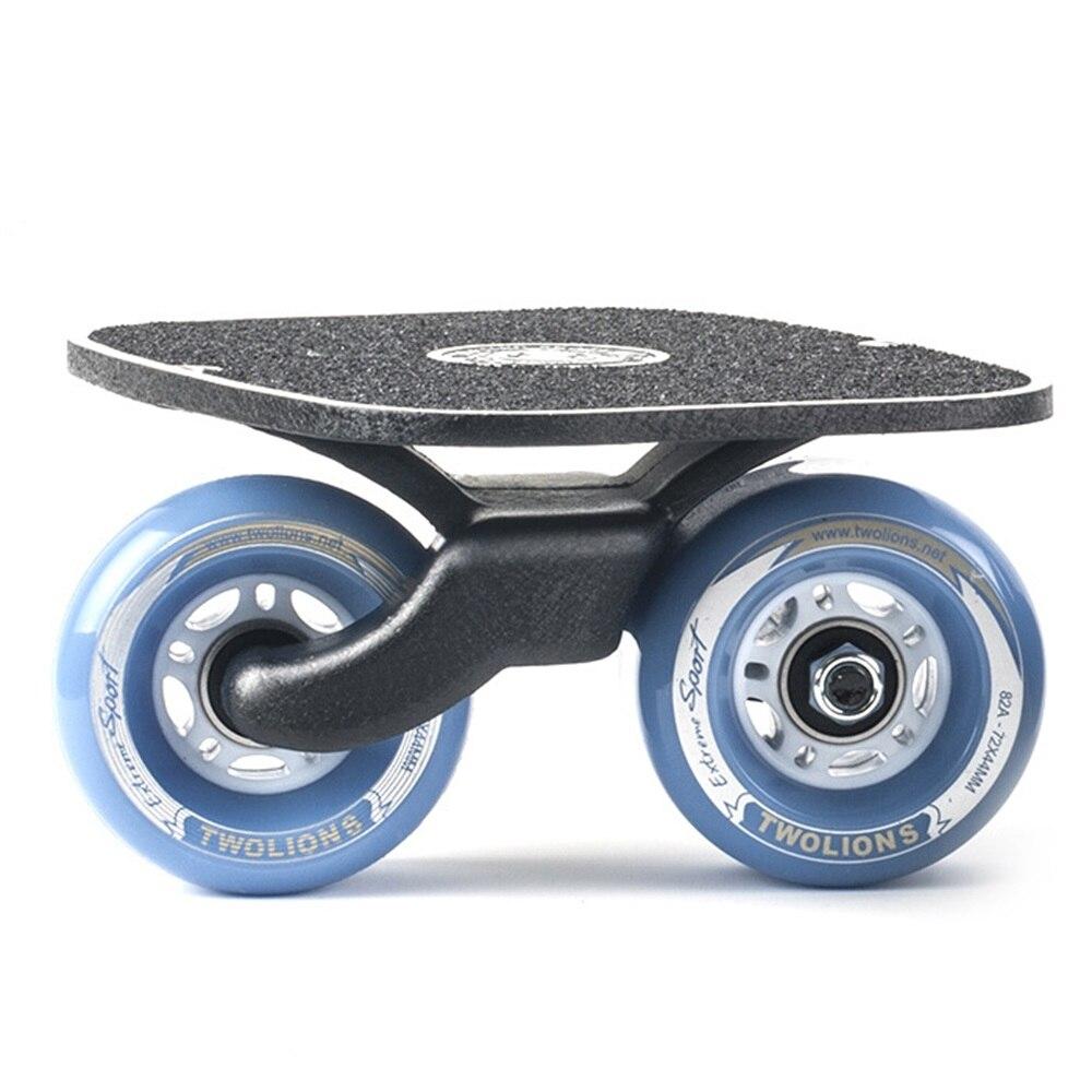 SPORTSHUB 1 Paire planche de skate Drift board skate pour Rouleau Route Dérive Plaque Anti-dérapage Planche À Roulettes Sport Métal Pédale roues pu O2K0013 - 4