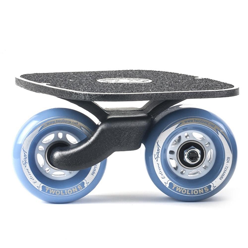 SPORTSHUB 1 paire planche à roulettes dérive planche pour rouleau route dérive plaque antidérapant Skateboard sport métal pédale roues en polyuréthane O2K0013 - 4
