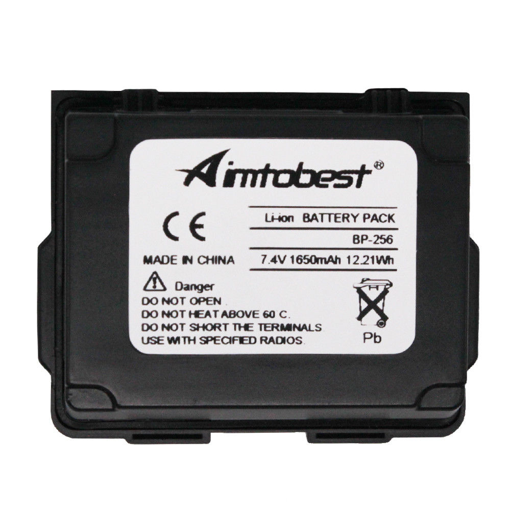 BP-256 BP256 1650mAh High Capacity Li-ion Battery For Icom Radio IC-92AD IC-E92D ID-92