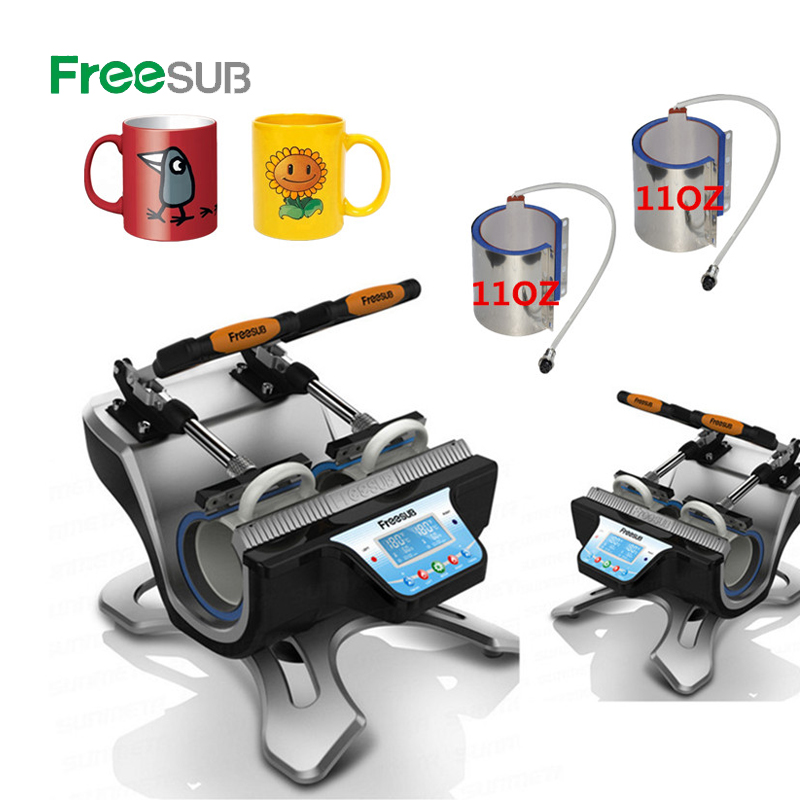 ST 210 Double Station Mug Press Machine Sublimation Heat Press Machine for Double 11oz Mugs Cups Printing|Printers| |  - title=