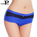LOBBPAJA Lot 6 PCS Woman Underwear Panties Cotton Cut Low Underpants Boxers Boyshorts Ladies Intimates Lingerie for Women 006