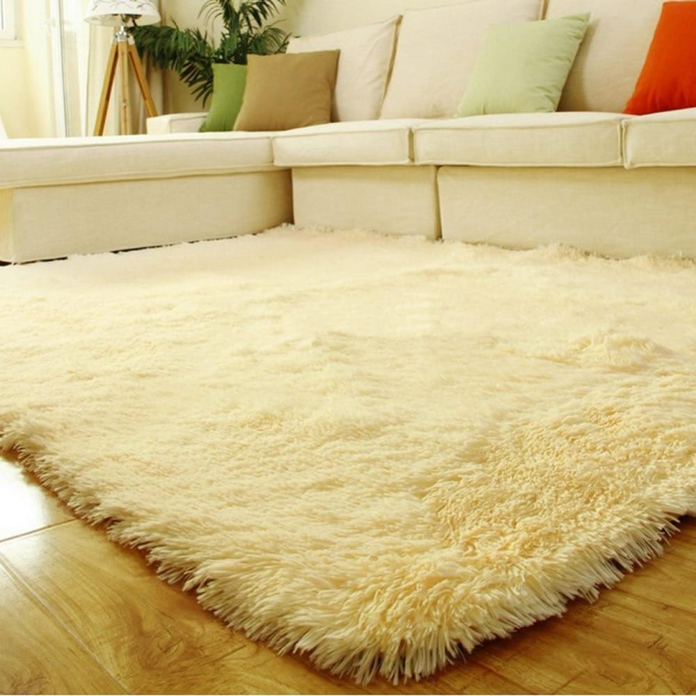 Fluffy Rug Anti Skid Shaggy Area Footcloth Dining Room Home Carpet