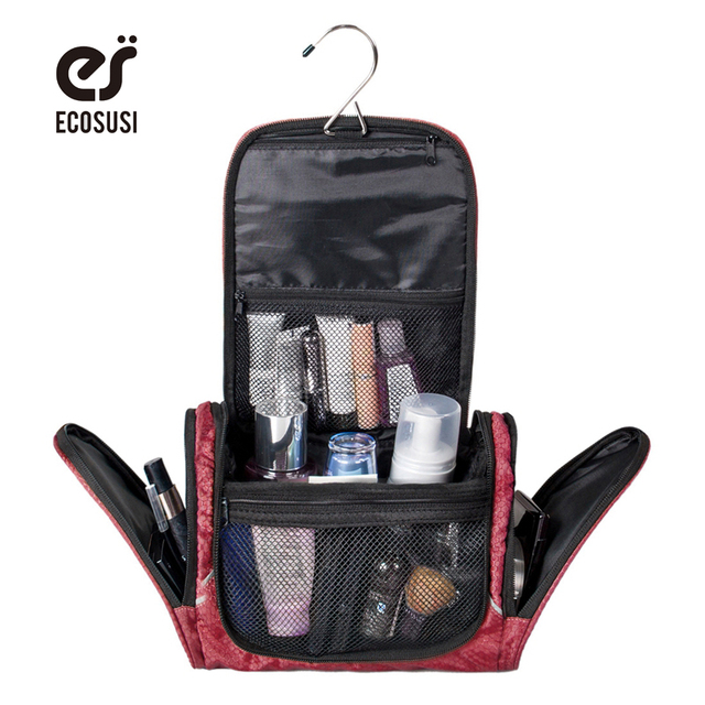 Polyester Cosmetic Cases Large Capacity Women Cosmetic Bag Travel Organizer Bag Multifunction Travel Toiletry Bag Makeup Handbag