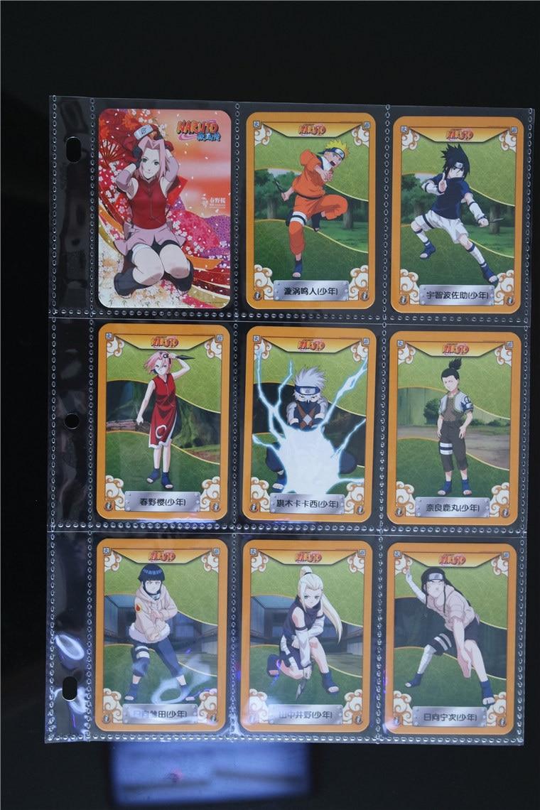 185 pièces/ensemble NARUTO personnage complet carte jouets loisirs loisirs de Collection jeu Collection Anime cartes