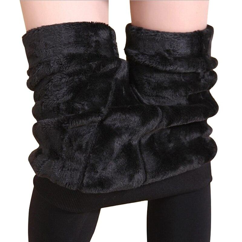 New Fashion Women's Autumn Winter High Elasticity And Good Quality Pants Thick Velvet Pants New Warm Leggings Rooftrellen