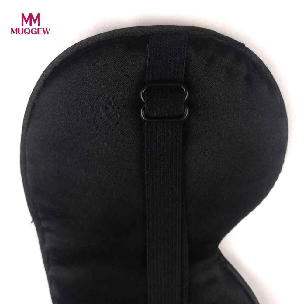 MUQGEW 1 ADET 20.5x9.5 cm Yeni Saf Ipek Uyku Göz Maskesi Yastıklı Gölge Kapak Seyahat Relax Yardım Göz maskesi Gölge Şekerleme Kapak Körü Körüne