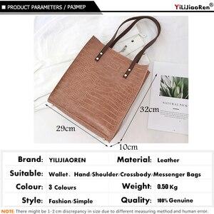 Image 4 - Fashion Crocodile Pattern Women Handbag Leather Ladies Hand Bags Luxury Handbags Women Bags Designer shoulder bag for women 2019