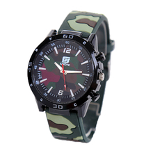 GUOTE Silicone Sports Watch Men High Quality Student Camo Quartz Wristwatch Military Men watch