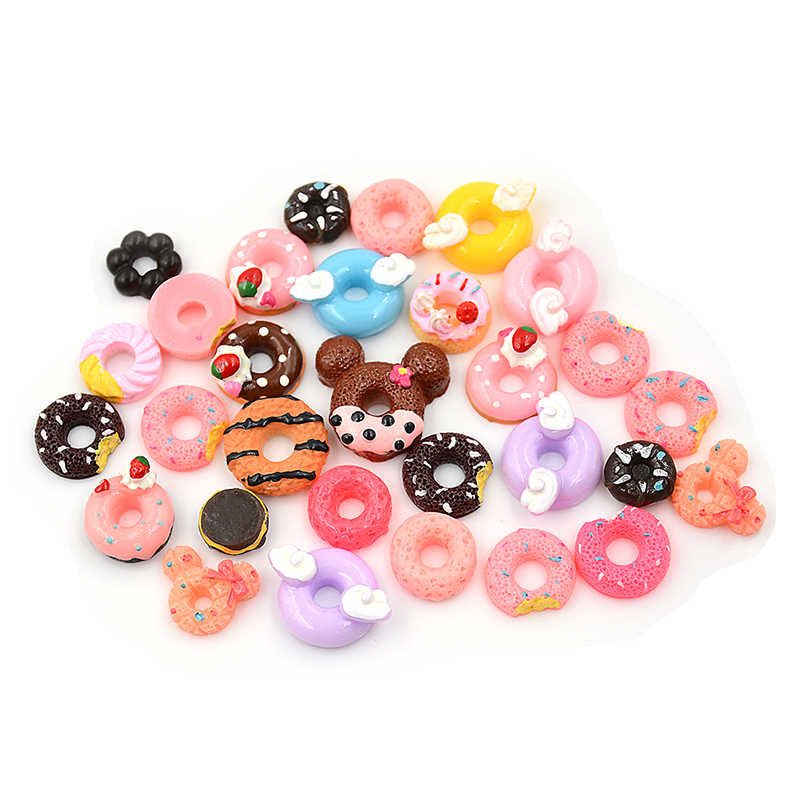 30 шт./лот кукол миниатюра притворяться игрушка мини игра Еда бисквит пончики для куклы аксессуары