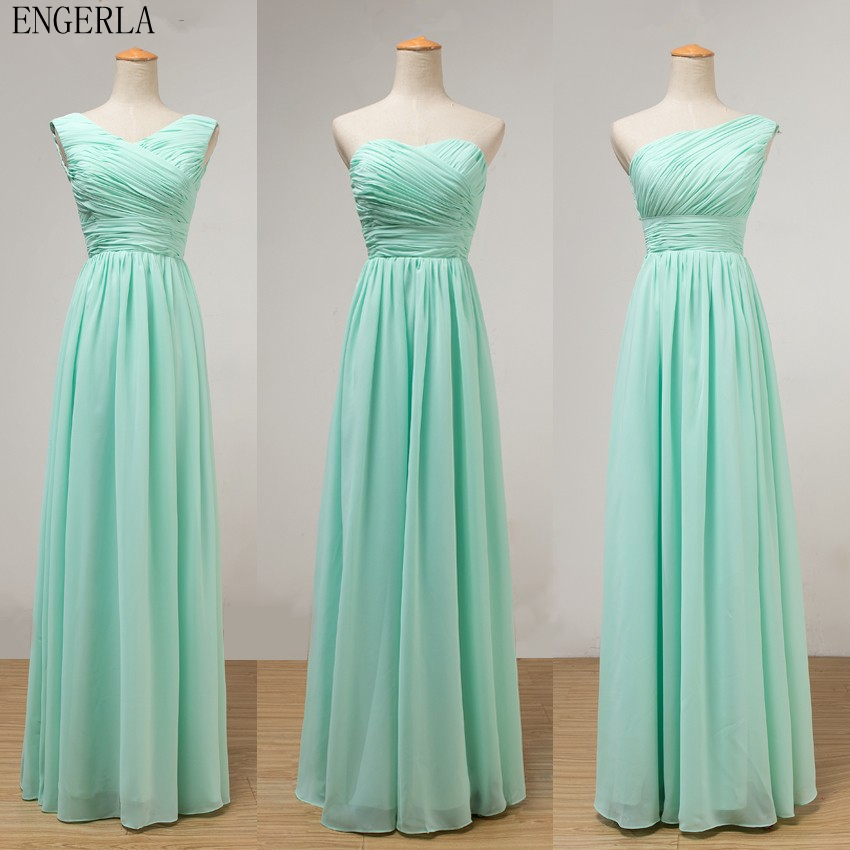 Aliexpress Com Buy Engerla Mint Green Long Chiffon A