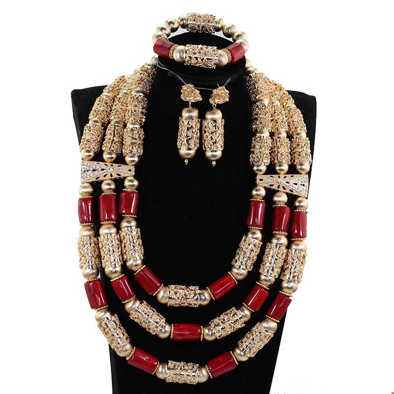 HTB1UtwWzf1TBuNjy0Fjq6yjyXXaL Amazing White Long Coral Beads Necklace Set White Coral Costume African Beads Jewelry Set Gold Fashion Coral Beads CNR057