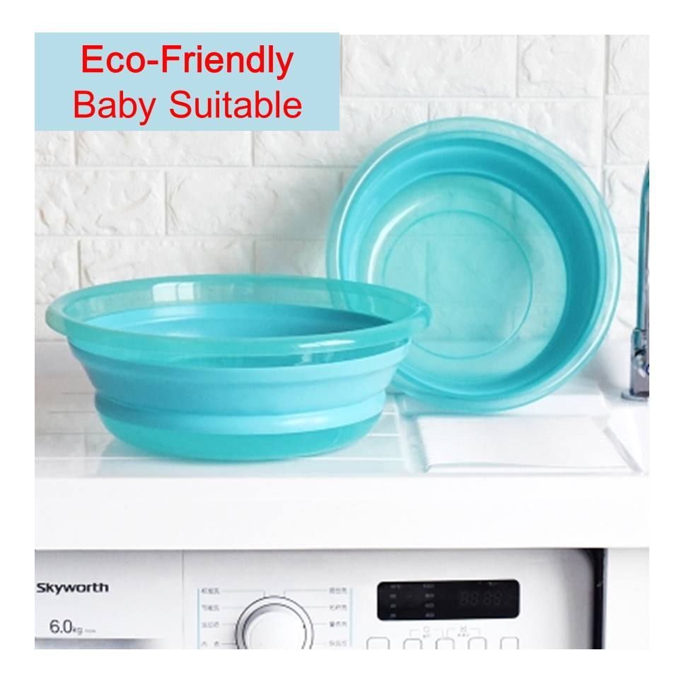 Multifunctional Portable Silicone Collapsible Basin Tub Dish Bowl ...