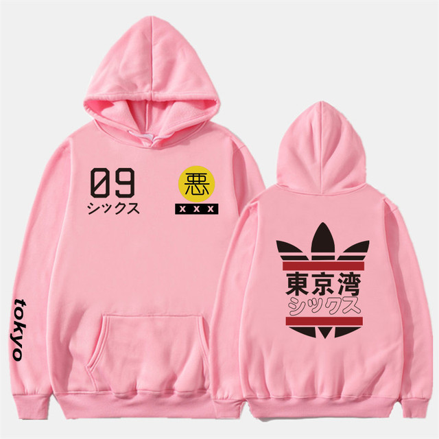 2019 New Men Women Hoodies harajuku Spring Sweatshirts Tokyo Bay Hoodies outwear Fashion Rubber powder Hip-Hop boys Clothes  1