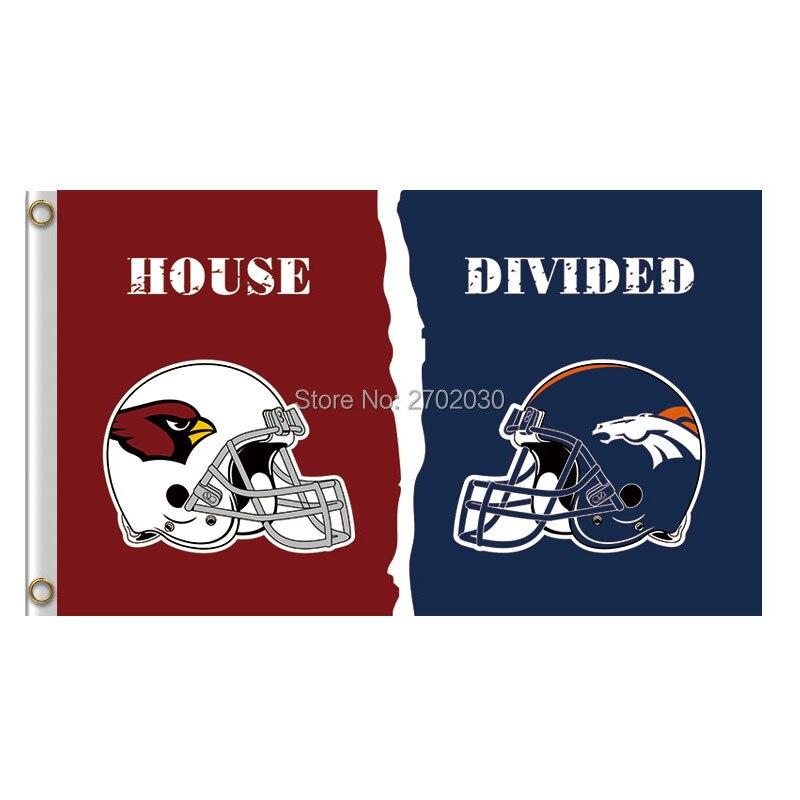 Arizona Cardinals Helmet Flag Vs Denver Broncos Banner World Series Super Bowl Champions Helmet Cardinals And Broncos Flag