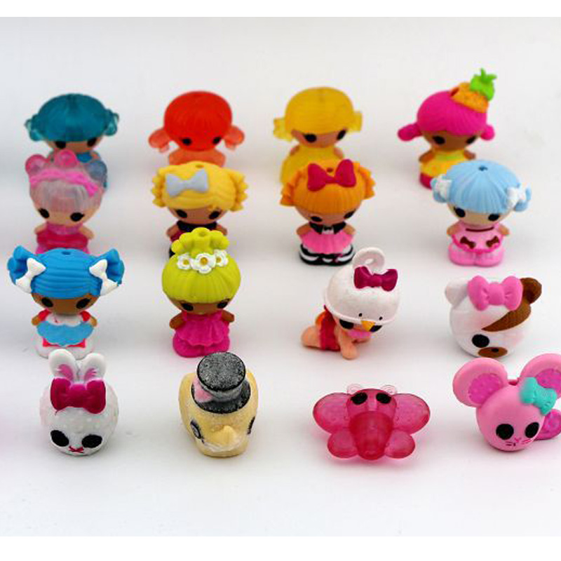 10pcs Lot Mini Lalaloopsy Dolls Accessories Girls Toys Play House Figures Christmas Gifts For Kids