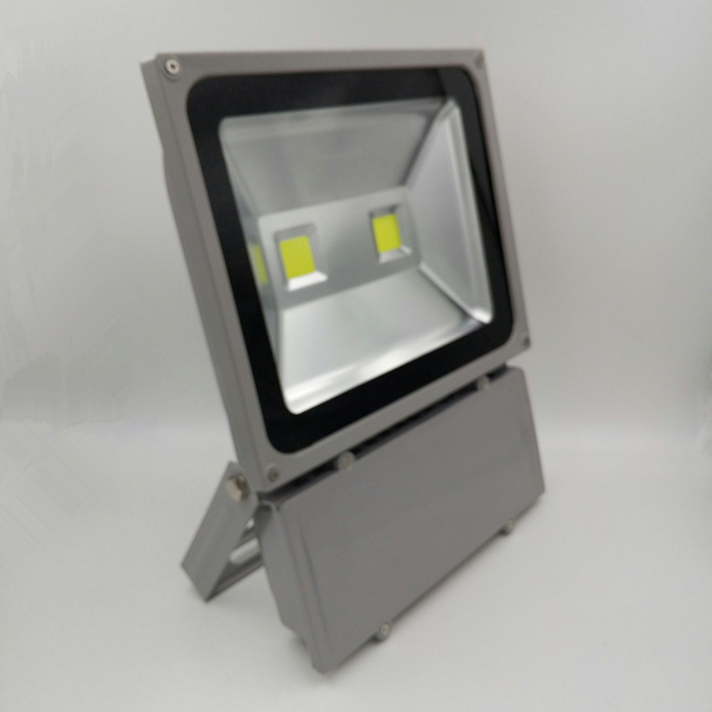 ultrathin LED flood light 100W grey AC85-265V waterproof IP65 Floodlight Spotlight Outdoor Lighting Freeshipping