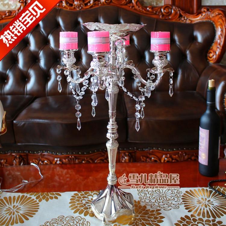 New European luxury crystal pendant high creative wedding birthday candle holders Home Furnishing New Arrival Creative Folding